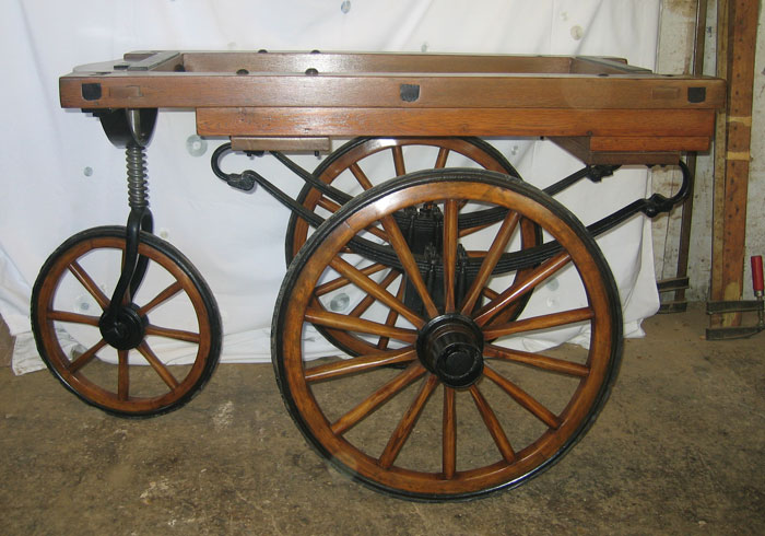 antique funeral cart
